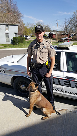 Deputy Ryan Luckert and K-9 Jax